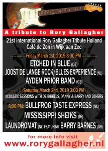 Rory Gallagher Tribute 2019!